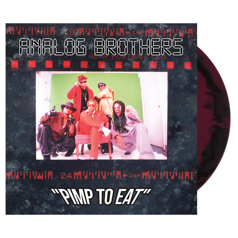 "[""Analog Brothers - 'Pimp To Eat (Re-Issue)' [(Ox Blood & Black) Vinyl [2LP]]""]"