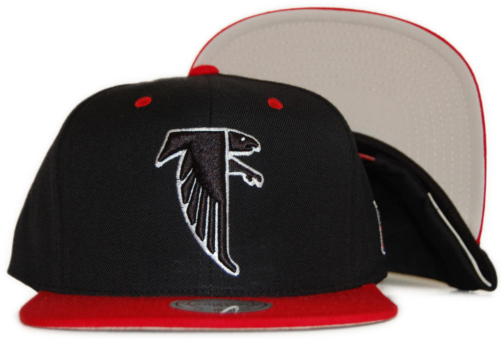 <!--020111122038535-->Mitchell & Ness x NFL - 'Atlanta Falcons: Throwback NFL Logo' [(Black) Snap Back Hat]