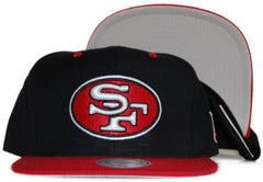 <!--020111213039041-->Mitchell & Ness x NFL - 'San Francisco 49ers: Throwback NFL Logo' [(Black) Snap Back Hat]