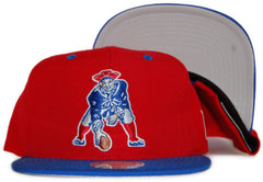 <!--020111213039043-->Mitchell & Ness x NFL - 'New England Patriots: Throwback NFL Logo' [(Red) Snap Back Hat]