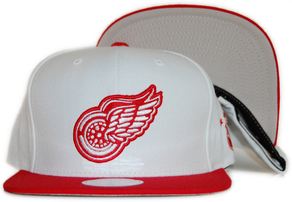 <!--020111213039038-->Mitchell & Ness x NHL - 'Detroit Red Wings: Vintage NHL Logo' [(White) Snap Back Hat]