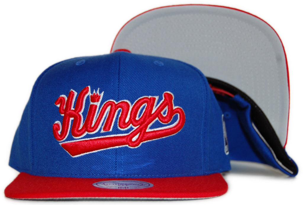 <!--020111213039051-->Mitchell & Ness x NBA - 'Sacramento Kings: HWC Standard NBA Logo' [(Blue) Snap Back Hat]