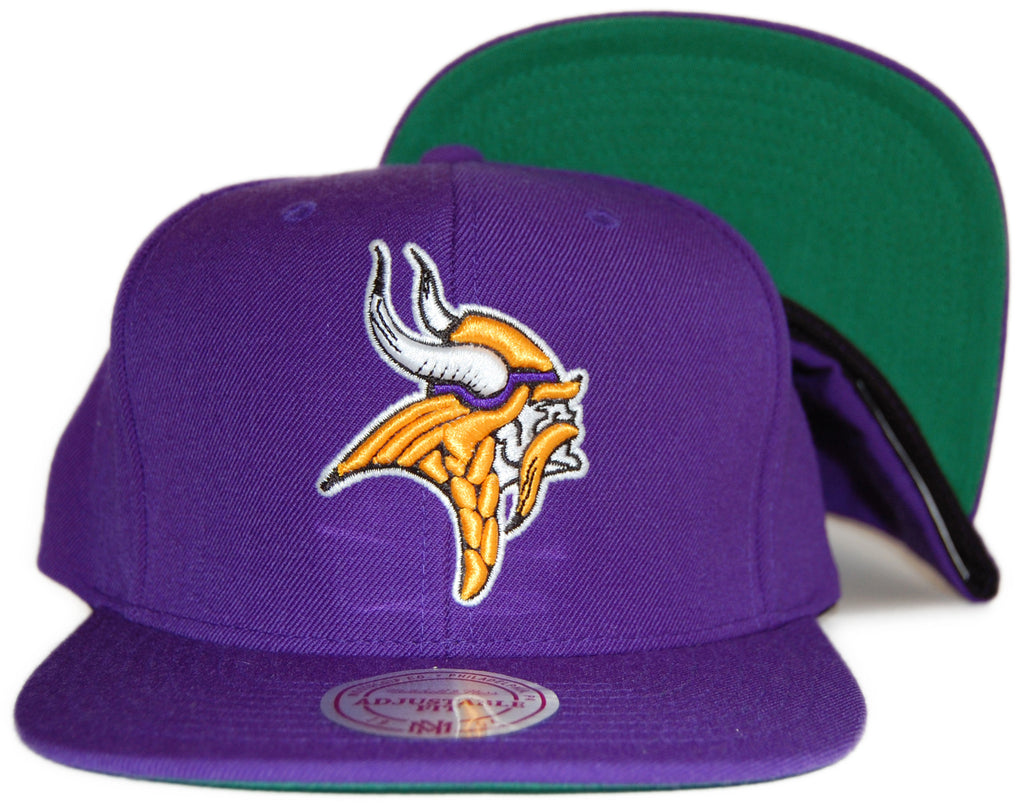 <!--020120207041035-->Mitchell & Ness x NFL - 'Minnesota Vikings: Throwback NFL Logo' [(Purple) Snap Back Hat]