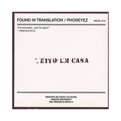 <!--2009090136-->Phoreyez - 'Found In Translation: Funky Global Wanderlust' [CD]