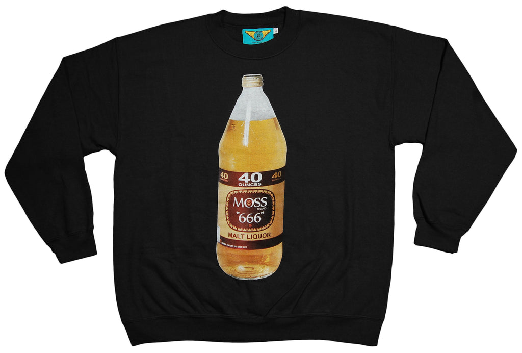 <!--2012101641-->Moss - '40 Bottle' [(Black) Crewneck Sweatshirt]