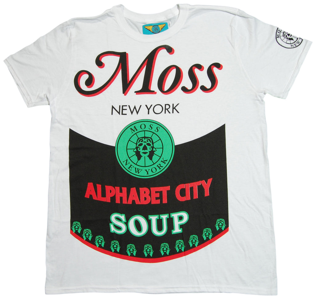 <!--2012101629-->Moss - 'Alphabet City' [(White) T-Shirt]