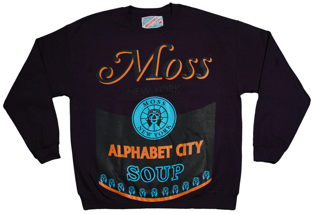 <!--2013041633-->Moss - 'Alphabet City' [(Dark Blue) Crewneck Sweatshirt]