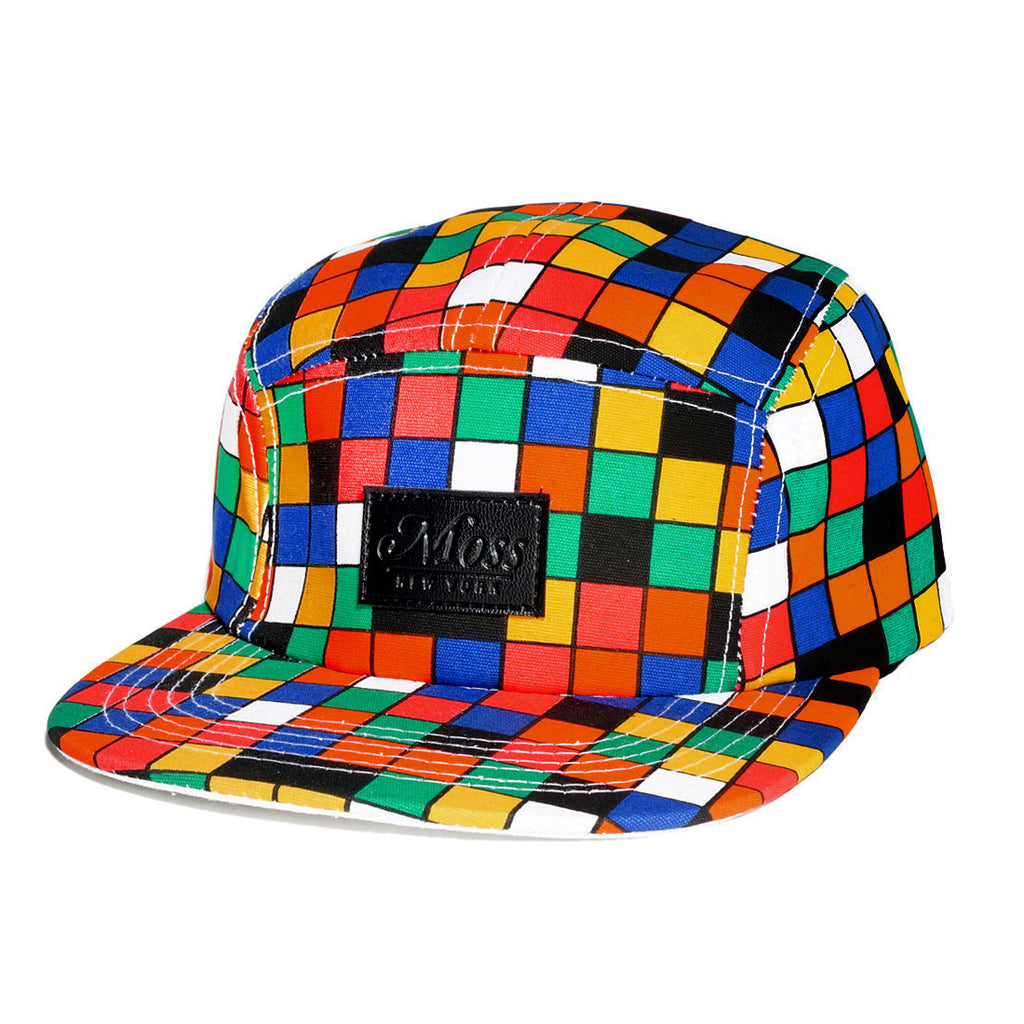 <!--020140430063586-->Moss - 'Cubic' [(Multi-Color) Five Panel Camper Hat]
