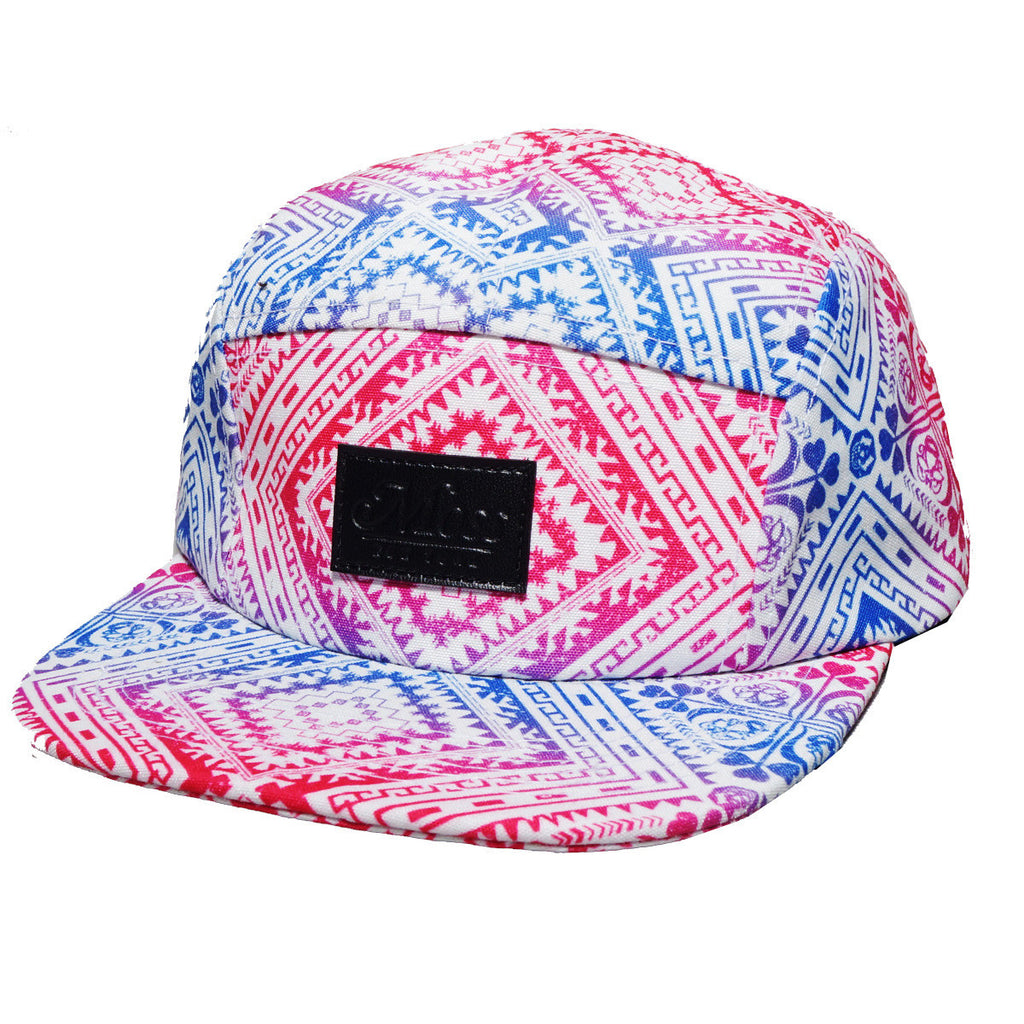 <!--2014043032-->Moss - 'Rainbow Carpet' [(White) Five Panel Camper Hat]