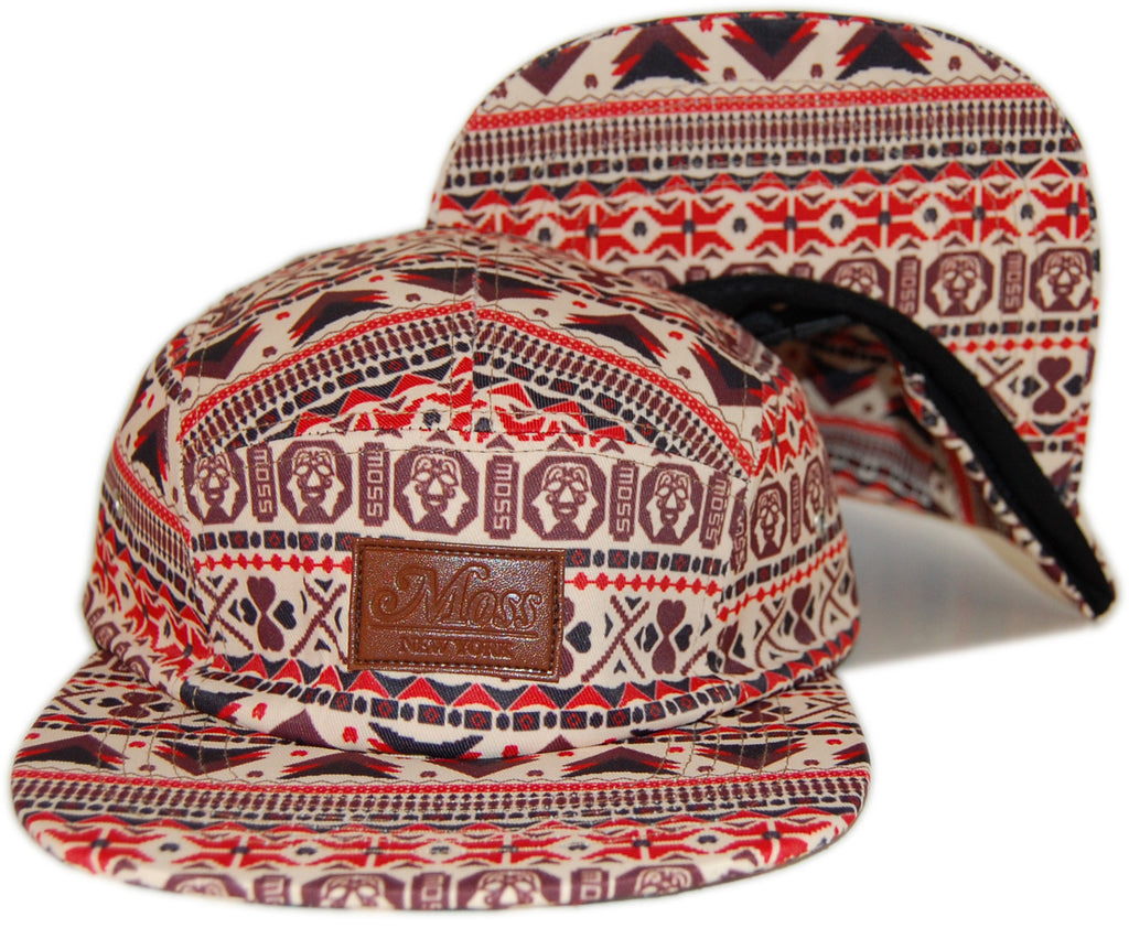 <!--020130716058228-->Moss - 'Moztec' [(Light Brown) Five Panel Camper Hat]
