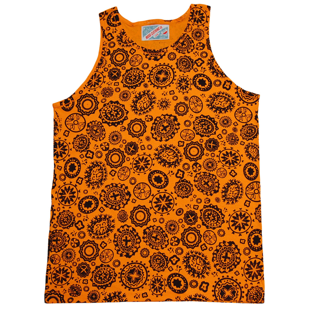 <!--2013071606-->Moss - 'Lotus' [(Orange) Tank Top]