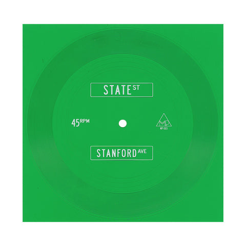"[""Big Malk - 'State St/ Stanford Ave' [(Clear Green) 7\"" Vinyl Single]""]"