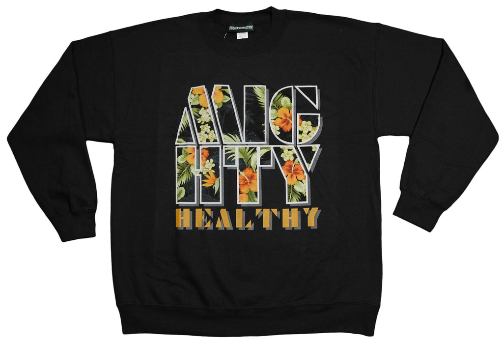 <!--2012121836-->Mighty Healthy - 'Fantasy Island' [(Black) Crewneck Sweatshirt]