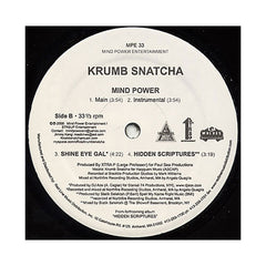 "KrumbSnatcha - 'Feeling/ Mind Power/ Shine Eye Gal/ Hidden Scriptures' [(Black) 12"" Vinyl Single]"