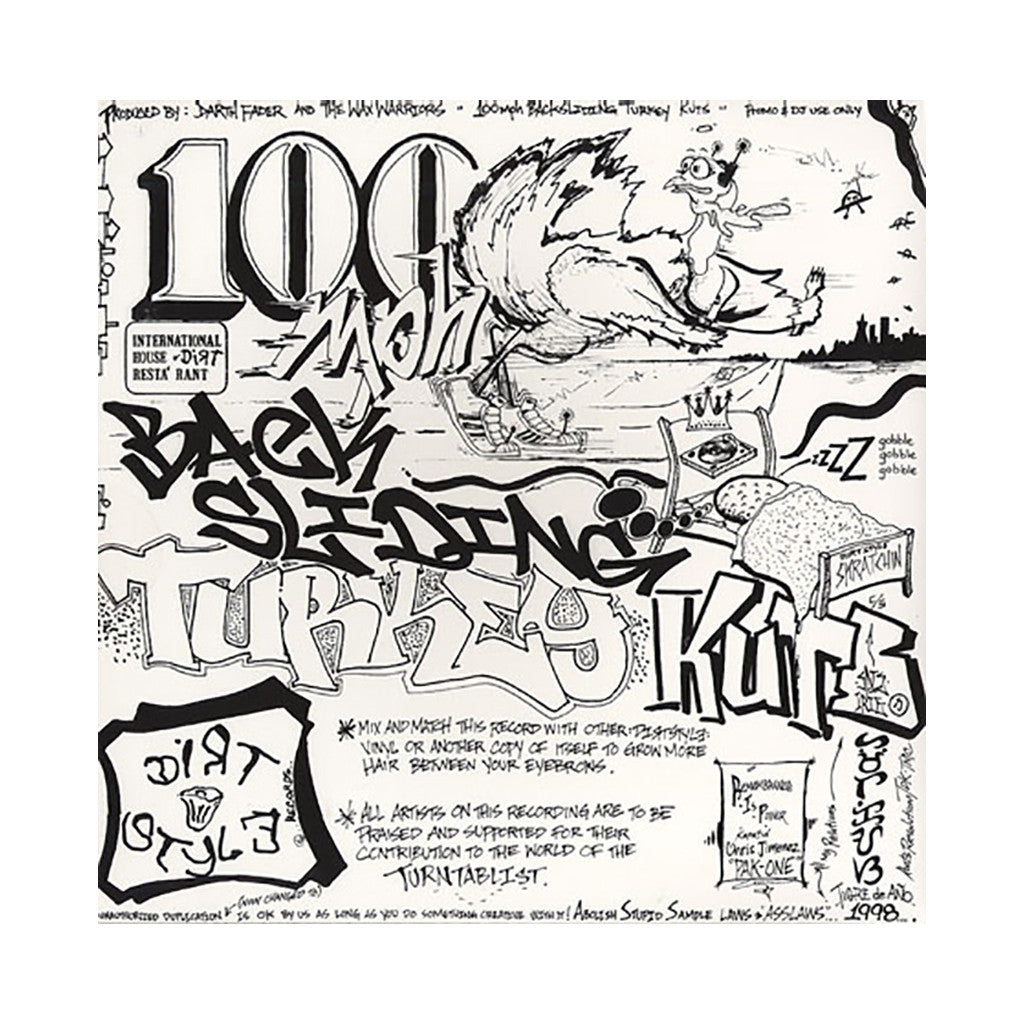 Darth Fader & The Wax Warriors - '100 Miles Per Hour Backsliding Turkey Kuts' [(Black) Vinyl LP]