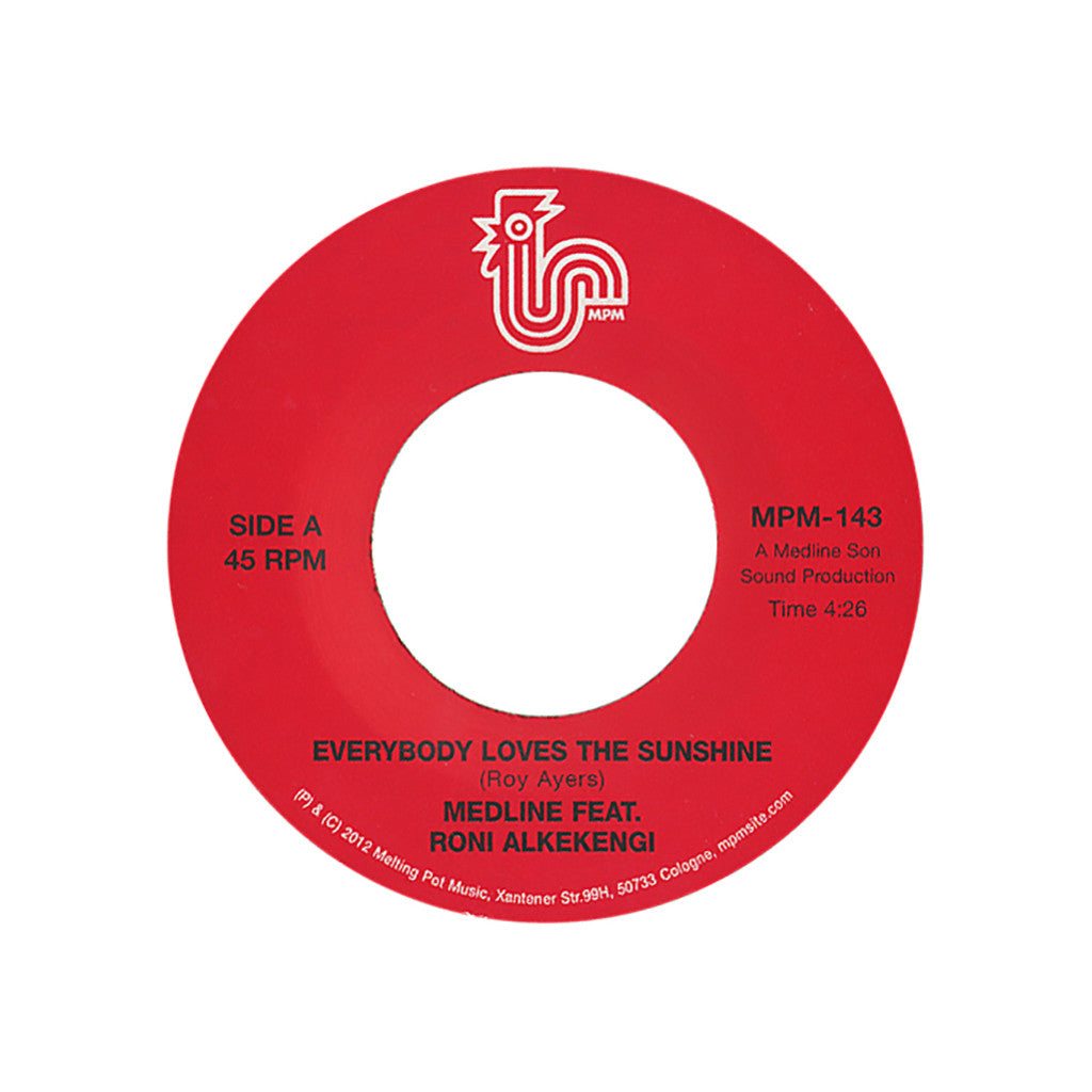"<!--020120911048172-->Medline - 'Everybody Loves The Sunshine' [(Black) 7"" Vinyl Single]"