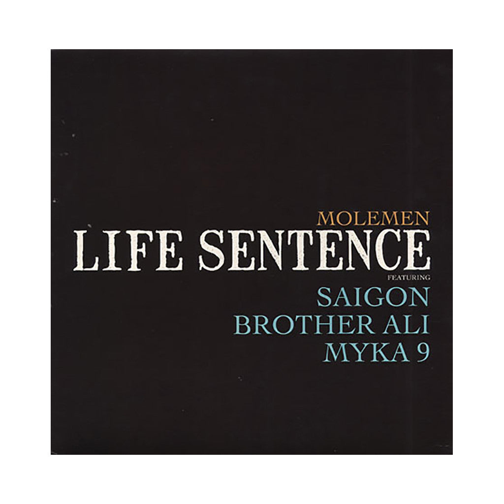 "Molemen - '2 Hour Banger/ Life Sentence/ Redemption' [(Black) 12"" Vinyl Single]"