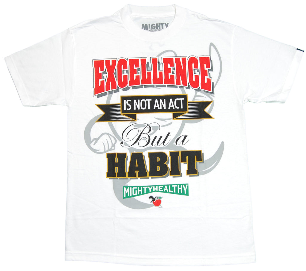 Mighty Healthy - 'Excellence' [(White) T-Shirt]