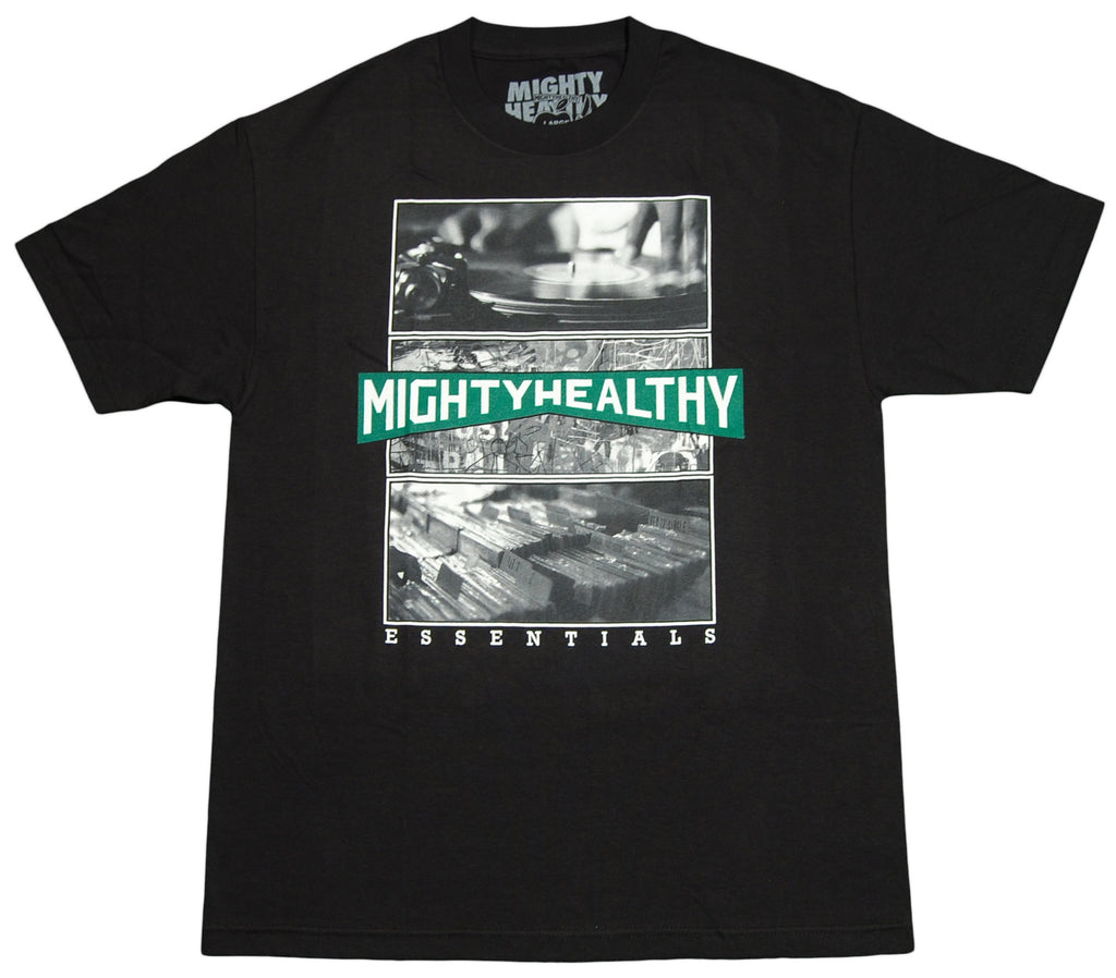 <!--2012061959-->Mighty Healthy - 'Essentials' [(Black) T-Shirt]