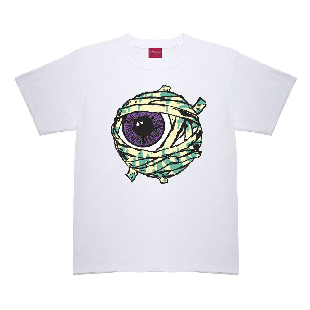 <!--2014081320-->Mishka NYC - 'Gazin Mummy Keep Watch' [(White) T-Shirt]