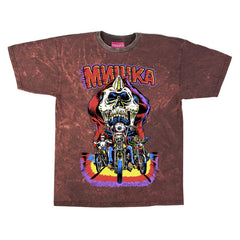 <!--2014110558-->Mishka NYC - 'Outlaws - Distressed' [(Dark Red) T-Shirt]