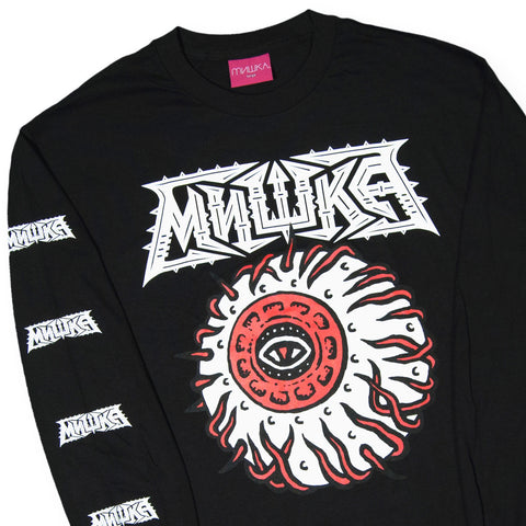 Mishka NYC x Michel Langevin - 'Away Keep Watch' [(Black) Long Sleeve Shirt]