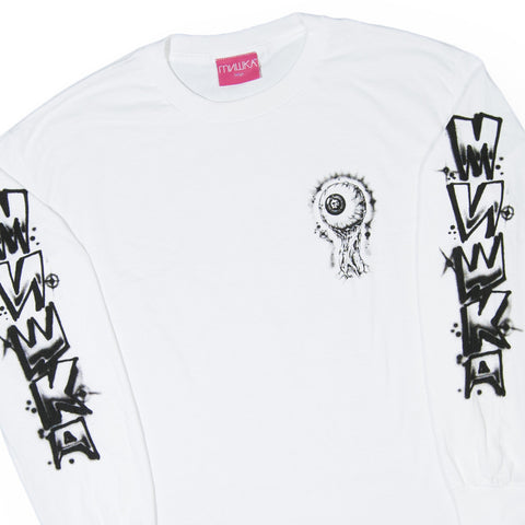 Mishka NYC - 'L'amour Boardwalk' [(White) Long Sleeve Shirt]