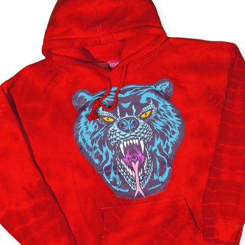 Mishka NYC - 'L'amour Death Adder - Inferno Red Crinkle' [(Dark Orange) Hooded Sweatshirt]