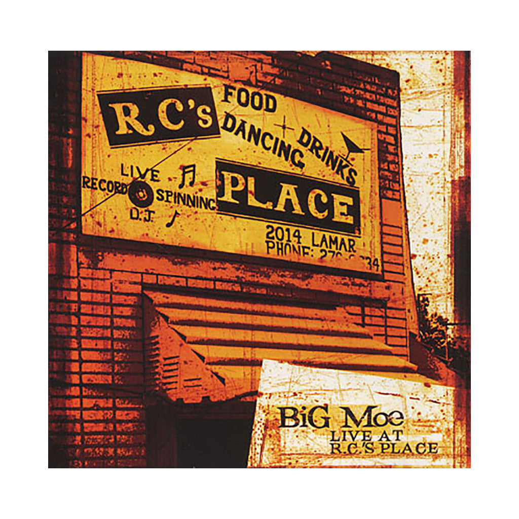 Big Moe Jones - 'Live At RC's Place' [CD]