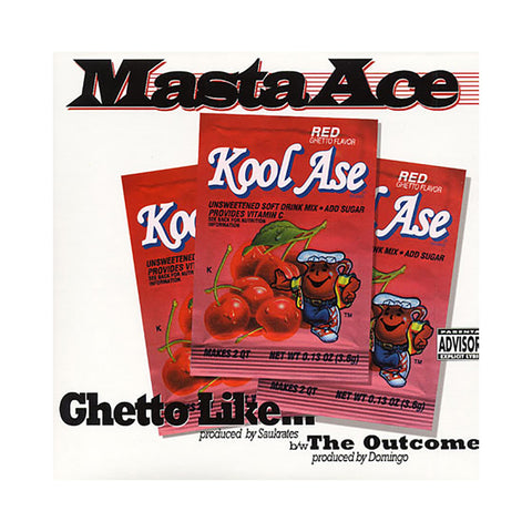 "Masta Ace - 'Ghetto Like/ The Outcome' [(Black) 12"" Vinyl Single]"