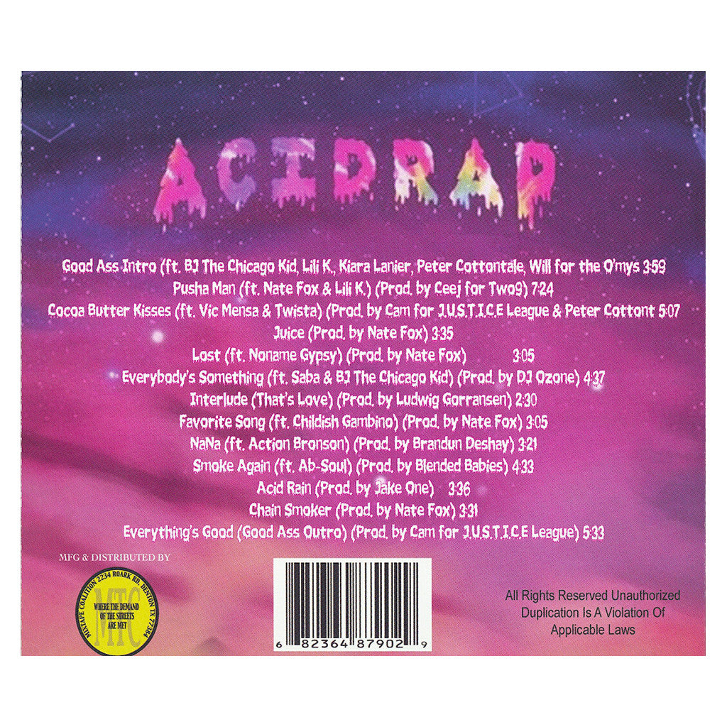 <!--020130618057483-->Chance The Rapper - 'Acid Rap' [CD]