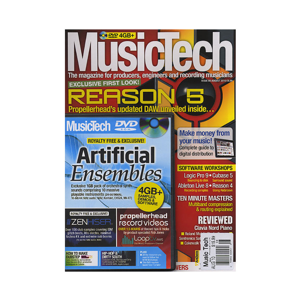 <!--020100817023111-->Music Tech Magazine - 'Issue 89, August 2010' [Magazine]