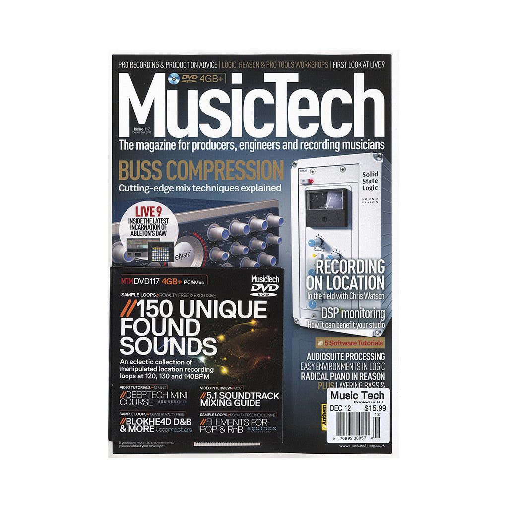 <!--020121225052154-->Music Tech Magazine - 'Issue 117, December 2012' [Magazine]
