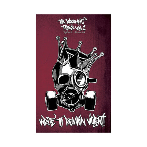"[""Epidemic & Dreamtek - 'The Bassment Tapes Vol. 1: Write To Remain Violent' [(Clear & Red) Cassette Tape]""]"