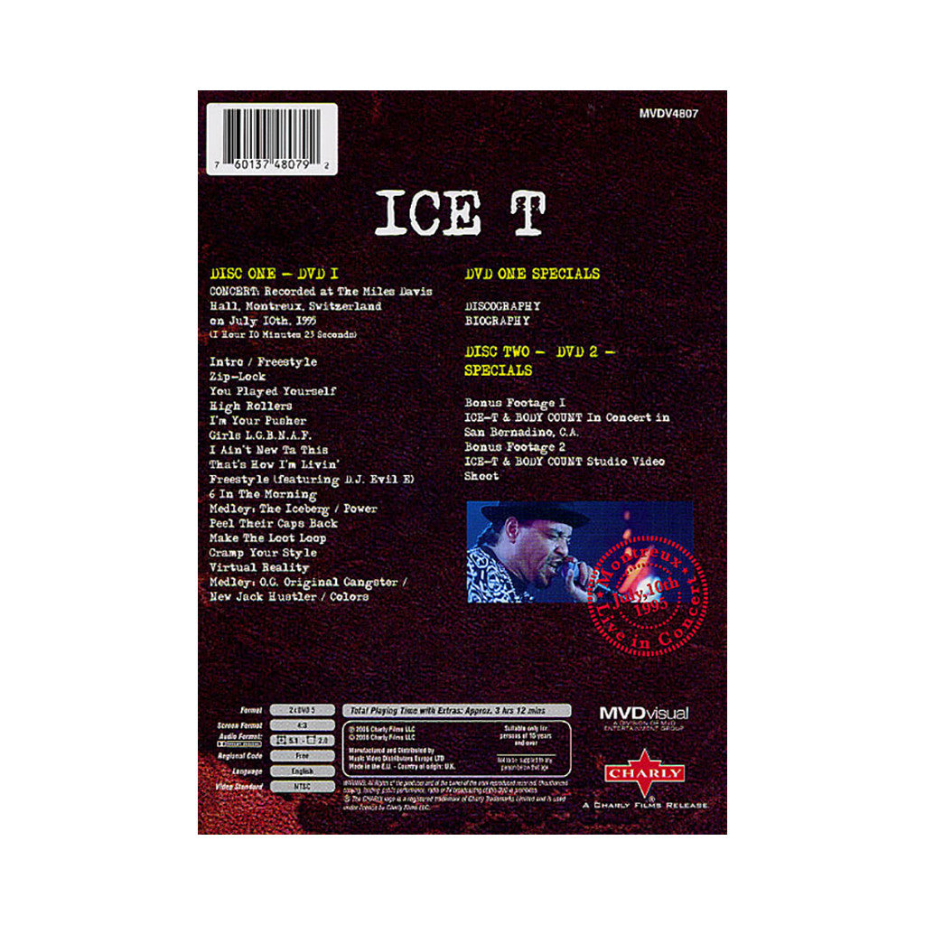 Ice-T - 'Live In Montreux 1995' [DVD [2DVD]]