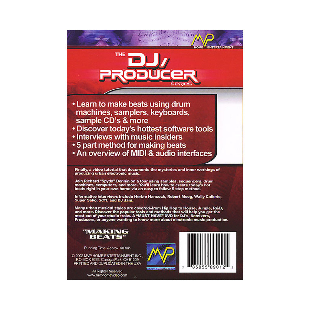 <!--020020101009411-->The DJ/ Producer Series - 'Making Beats' [DVD]