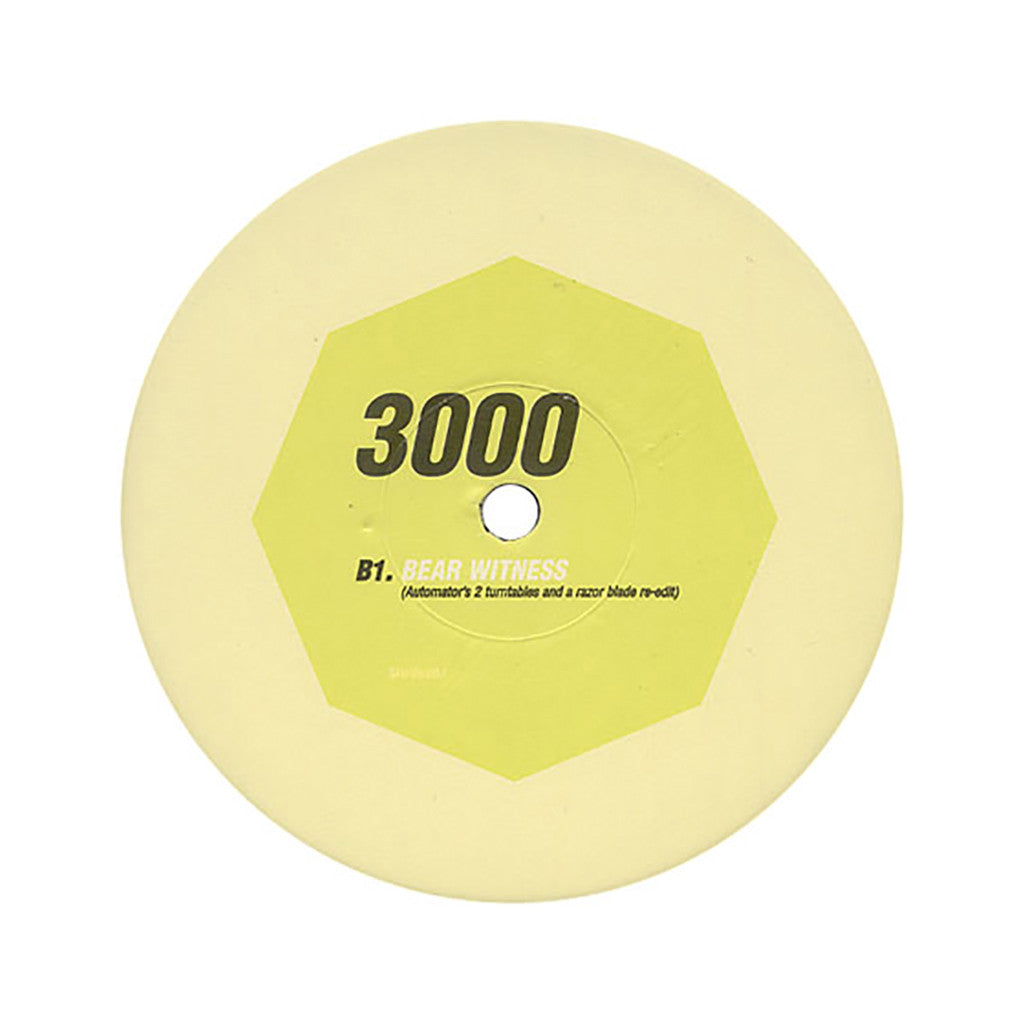 "Dr. Octagon - '3000 (Automator's 1,2 Remix)/ 3000 (Automator's 2 Turntables and a Razor Blade Re-Edit)' [(Black) 12"" Vinyl Single]"