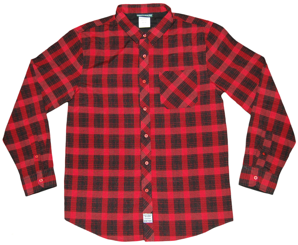 <!--2012121856-->Mighty Healthy - 'Sideline' [(Red) Button Down Shirt]
