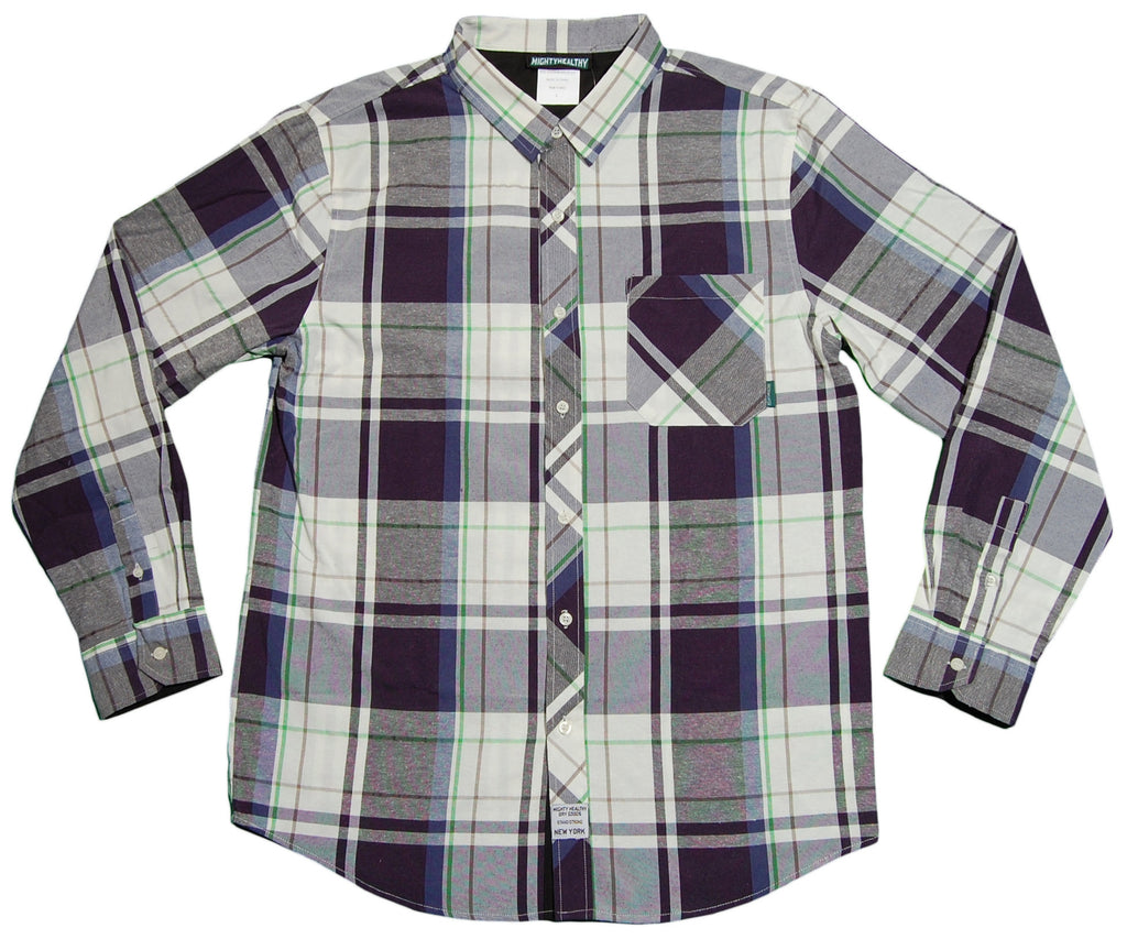 Mighty Healthy - 'Excursion' [(Dark Blue) Button Down Shirt]