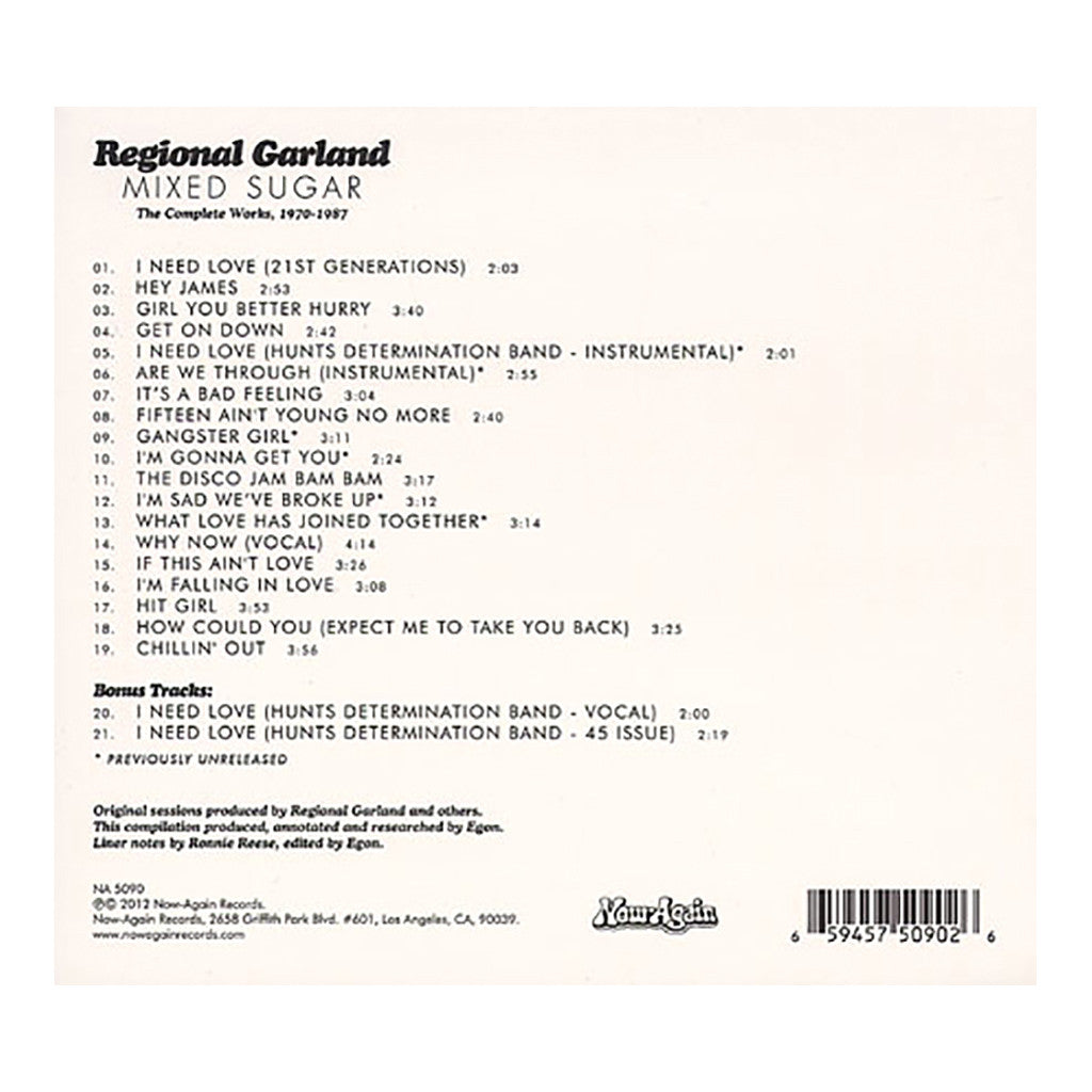 <!--2012032718-->Regional Garland - 'Mixed Sugar: The Complete Works, 1970-1987' [CD]