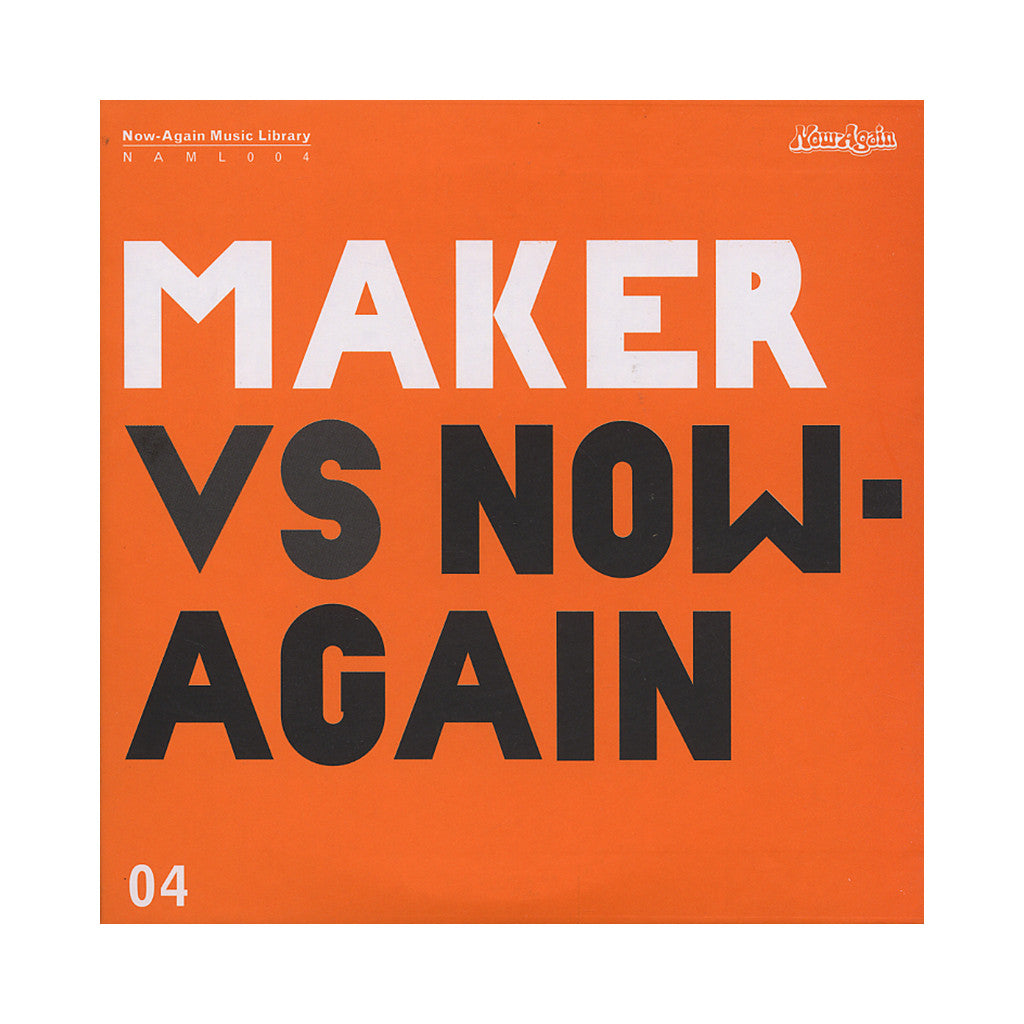 <!--120100518011920-->Maker - 'Maker Vs. Now-Again Music Library Vol. 4' [CD]