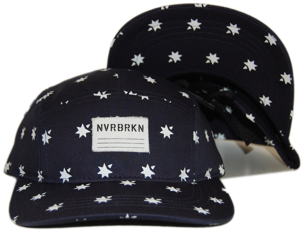<!--020120710046696-->NVRBRKN. - 'Camp Cap' [(Dark Blue) Five Panel Camper Hat]