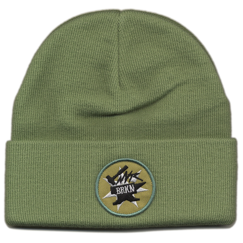 <!--020120710046693-->NVRBRKN. - 'Never Broken Cargo Beanie' [(Light Green) Winter Beanie Hat]