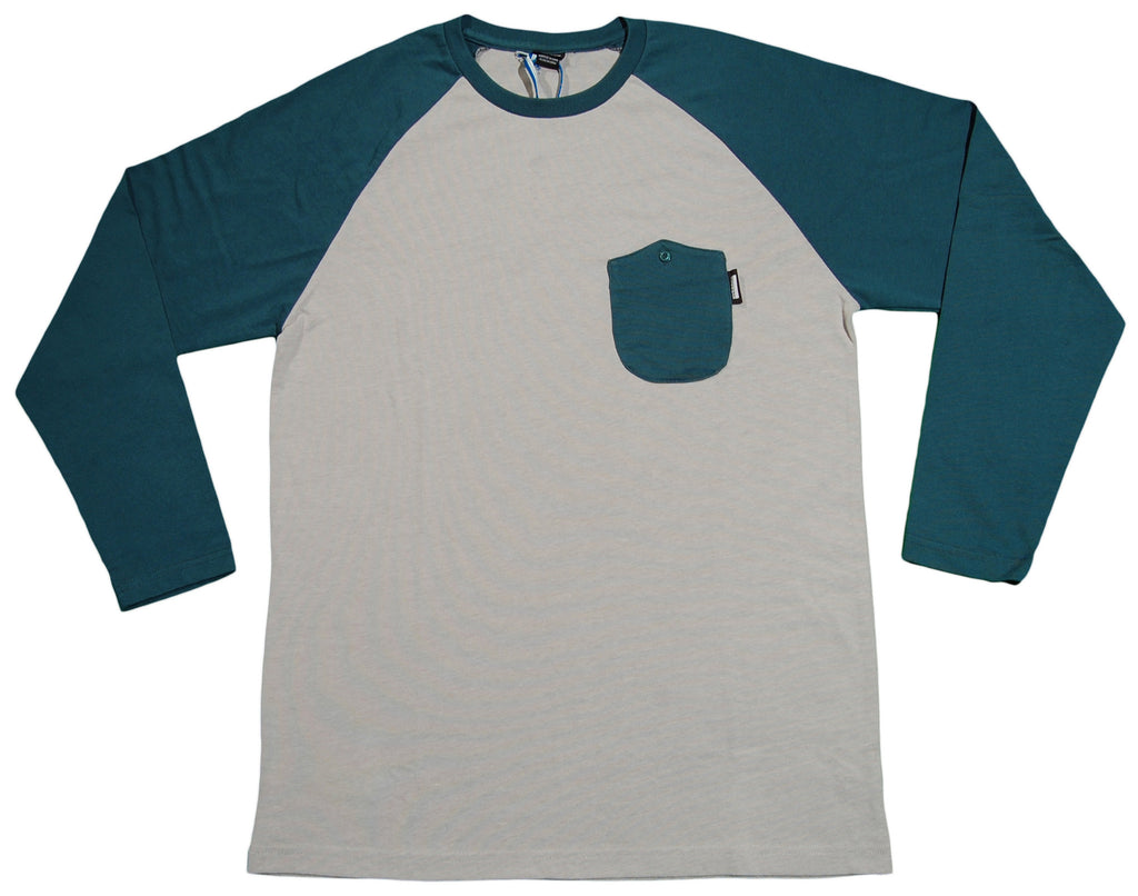 <!--2013010824-->NVRBRKN. - 'Fielder Raglan' [(Light Green) Long Sleeve Shirt]