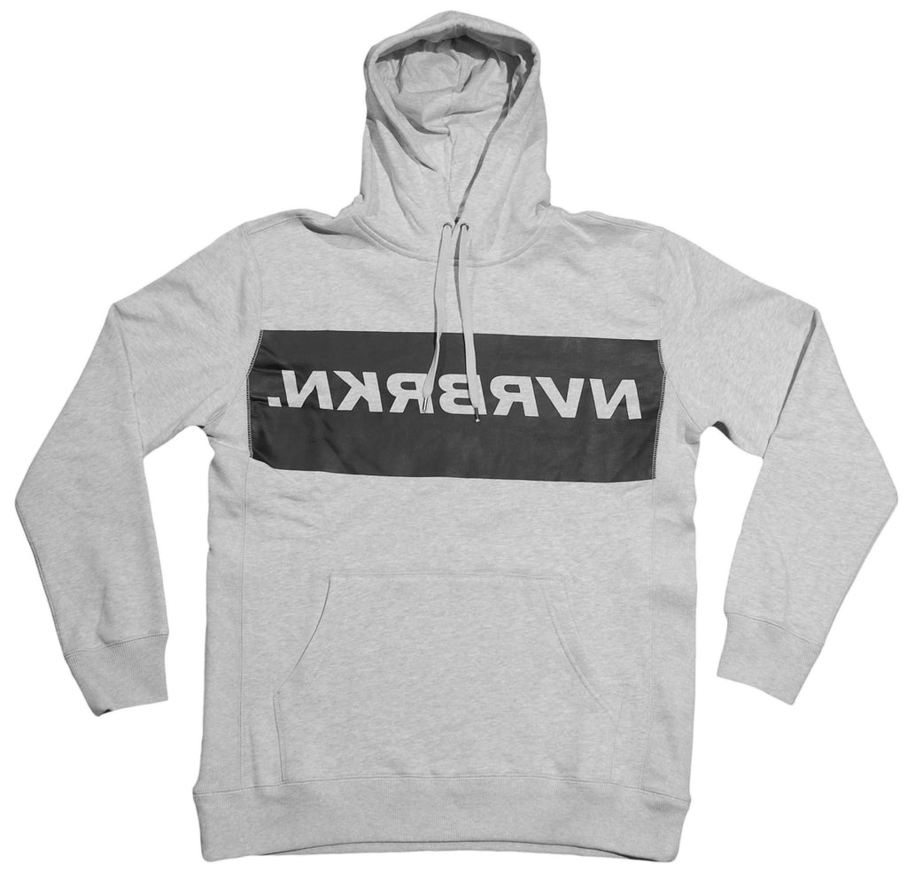 NVRBRKN. - 'Ligature' [(Light Gray) Hooded Sweatshirt]