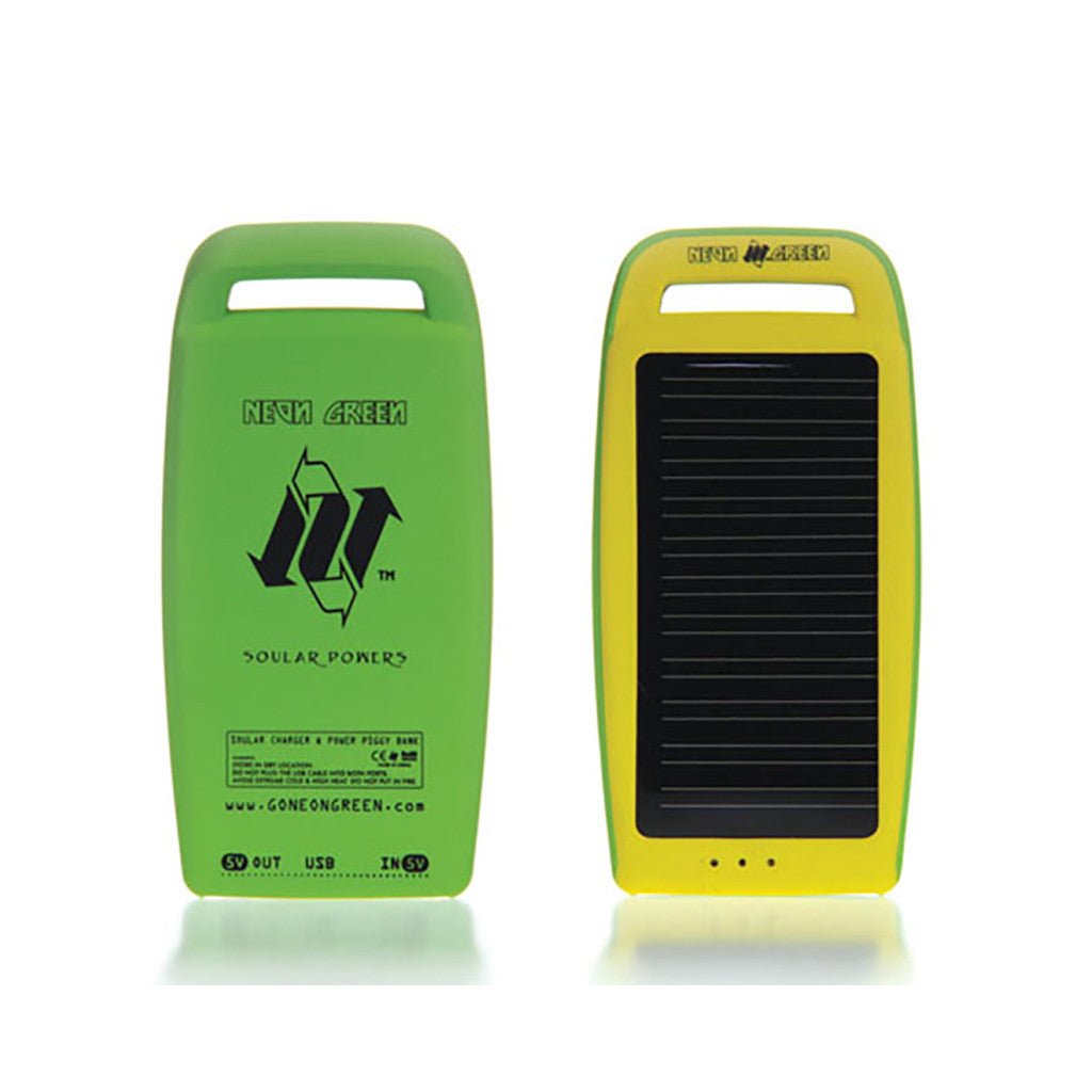 <!--020100525021580-->Neon Green - 'Big Piggy Power Bank' [(Byrd) Solar Rechargeable Battery]