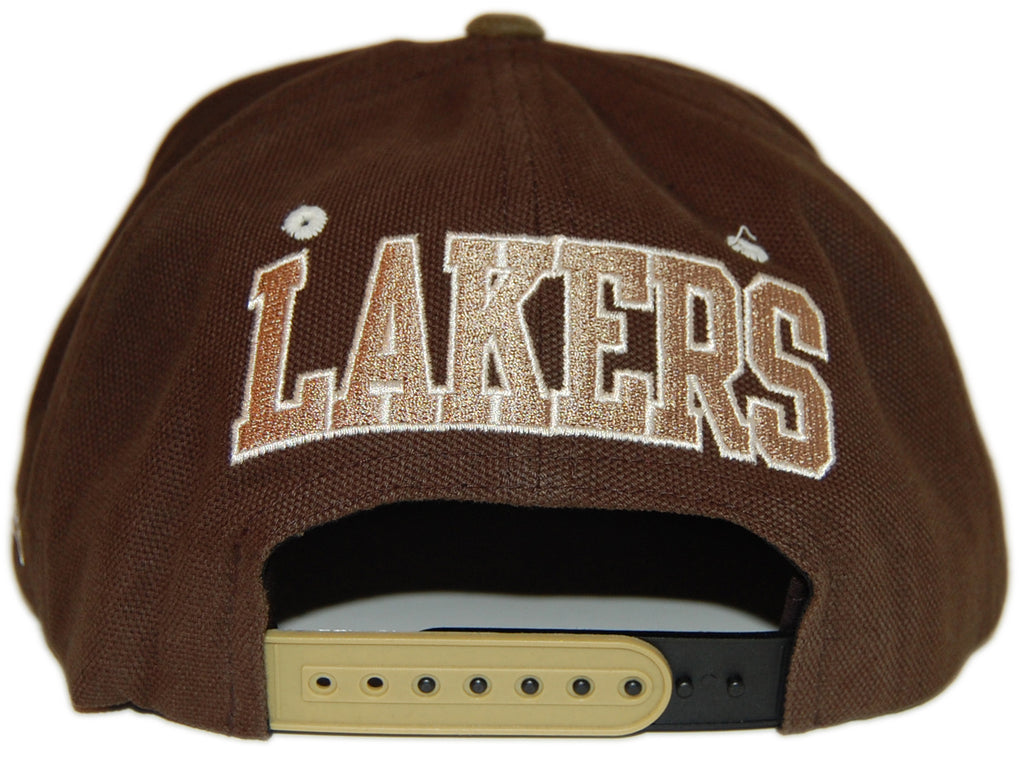 <!--020121016050310-->Mitchell & Ness x NBA - 'Los Angeles Lakers - NBA Hardwood Classics Clay Snapback' [(Light Gray) Snap Back Hat]