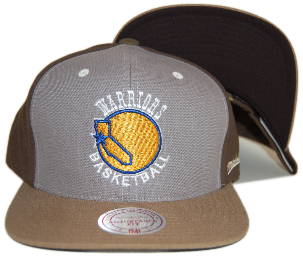 <!--020121016050311-->Mitchell & Ness x NBA - 'Golden State Warriors - NBA Hardwood Classics Clay Snapback' [(Light Gray) Snap Back Hat]