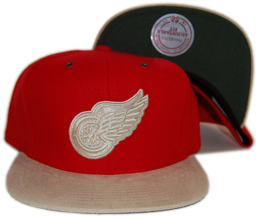<!--020121120051392-->Mitchell & Ness x NHL - 'Detroit Redwings - NHL Vintage Winter Suede' [(Red) Strap Back Hat]
