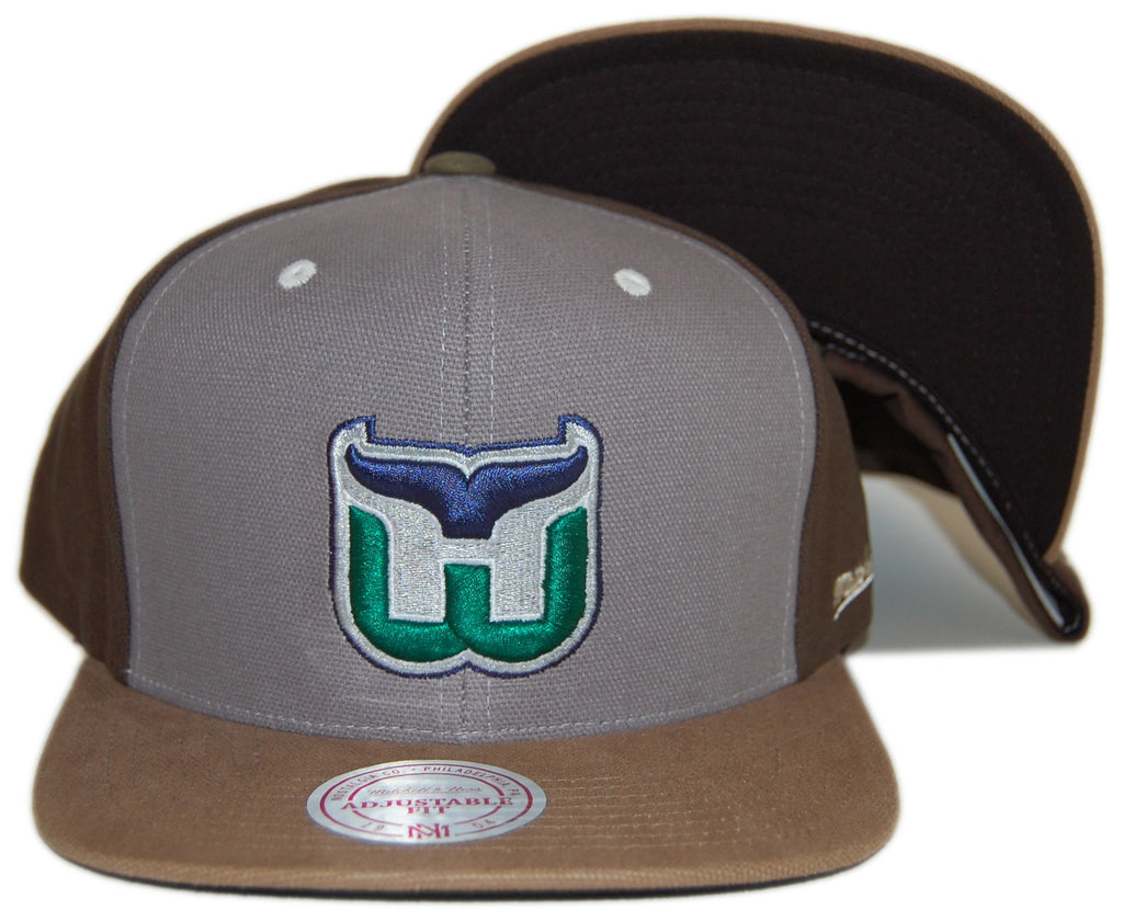 <!--020121016050291-->Mitchell & Ness x NHL - 'Harford Whalers - NHL Vintage Clay Snapback' [(Light Gray) Snap Back Hat]